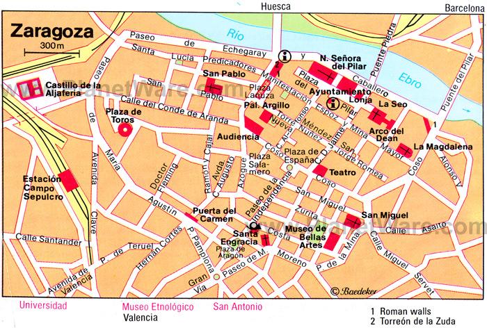 Mapa de Saragoca Centro