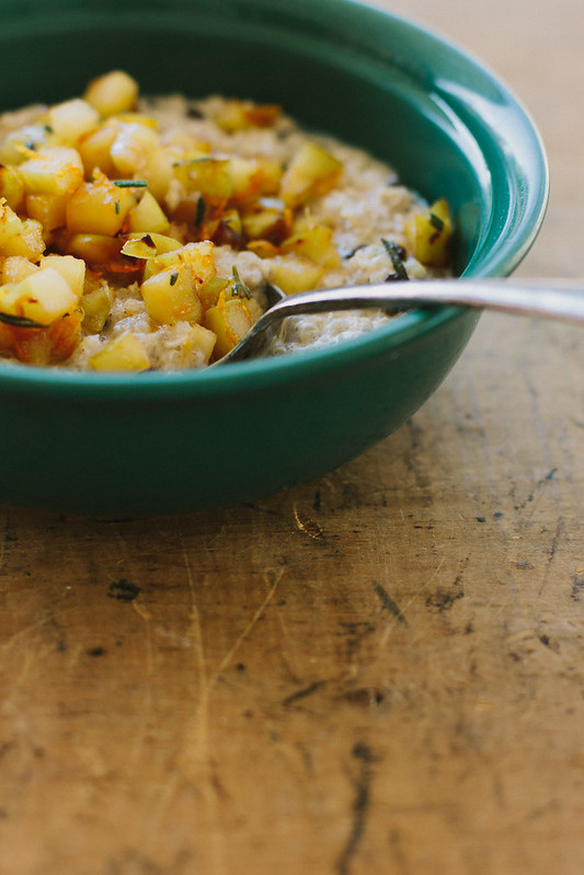 quinoa porridge w/ orange rosemary apple