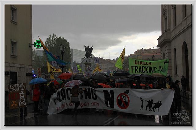 5 Manifestación contra el fracking en Burgos