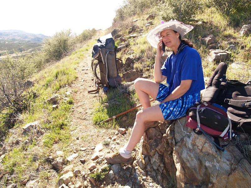 PCT San Felipe Hills - phone reception above Ranchita