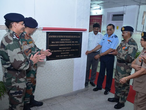 DGAFMS, Air Mshl DP Joshi inaugurating a new medicare facility at Command Hospital, (EC) Kolkata in the presence of Commandant, Maj Gen BNBM Prasad and other senior medical officials on Friday (PIB-DW) by Chindits