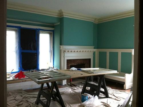 Living Room turned Work Room