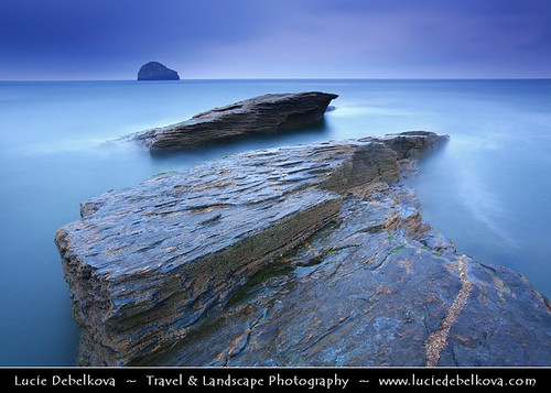 UK - England - Cornwall - Trebarwith Strand - Trebervedh Sian captured during moody evening