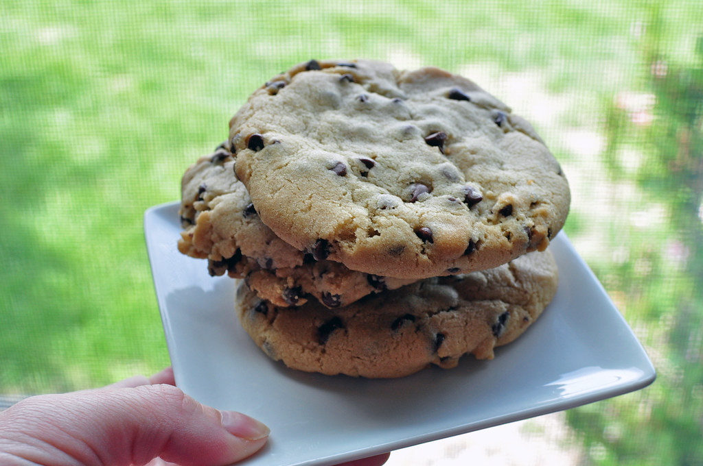 Bakery Style Chocolate Chip Cookies 2