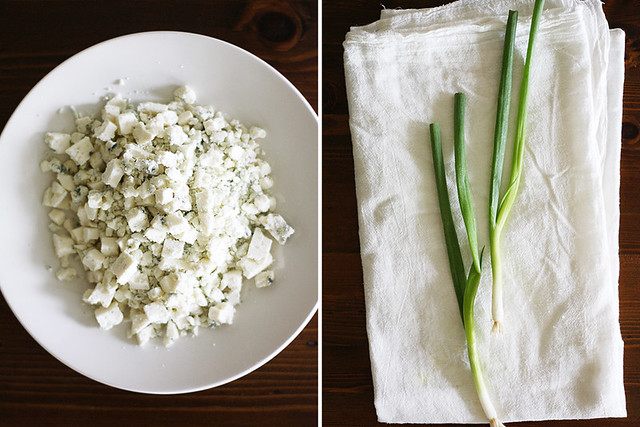 blue cheese + scallions