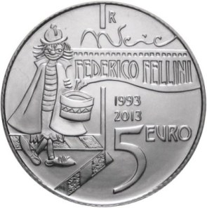 Oficiálna sada euromincí San Marino 2013, F.Fellini