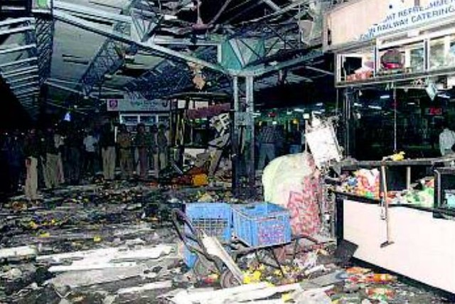 Site of Feb 2006 Railway Blast in Ahmedabad - (Courtesy: Vishwa Gujarat)