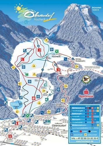 Oberaudorf - mapa sjezdovek
