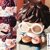 Repost from @irislau_panda  Baking With Fun! #Ren #3rdgeneration #artistren #chef #bubiauyeung #crazylabel #stripecloth #blue #white #glasses #nerd #baking #foodlover #bread #baguette #character #boy