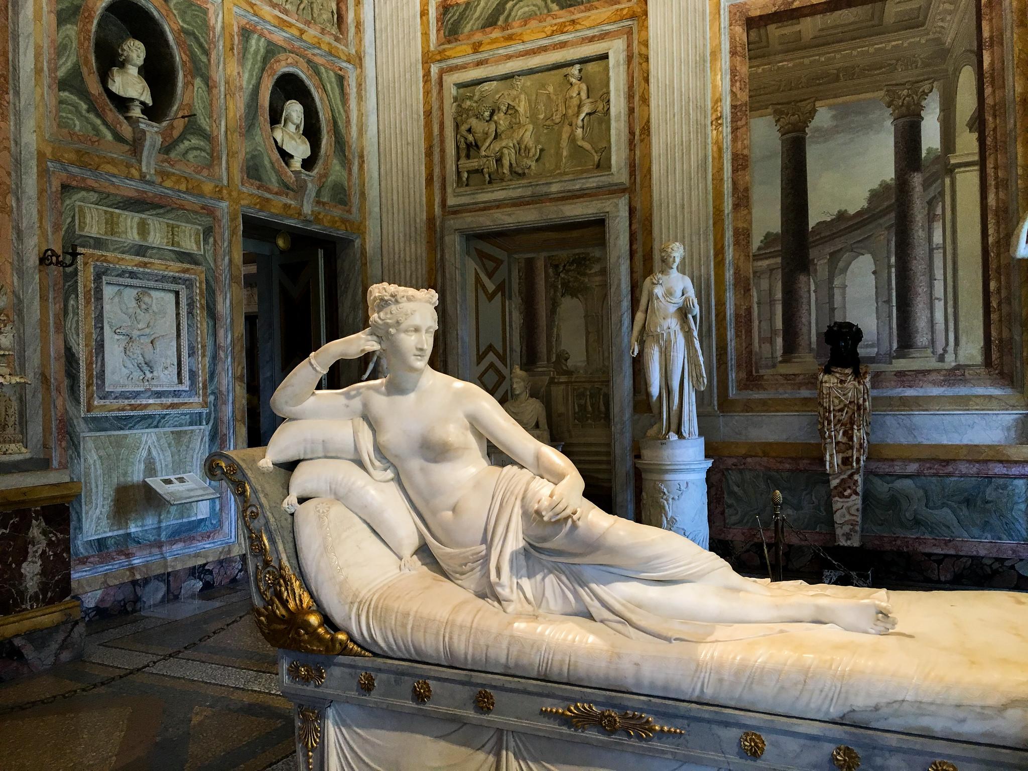 Pauline Borghese en Vénus victorieuse, de Canova