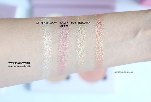 Anastasia Beverly Hills Sweets Glow Kit swatches