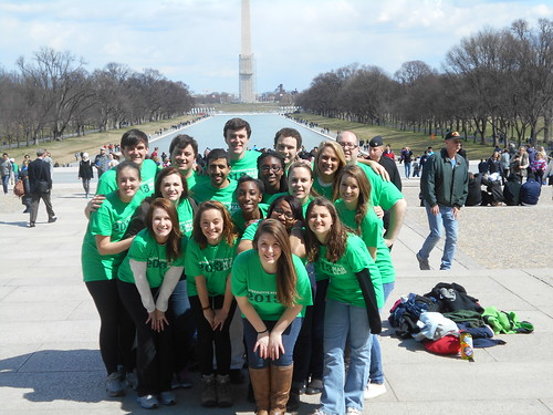 our team at the lincoln memorial
