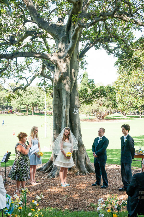 victoria park sydney wedding tree initials