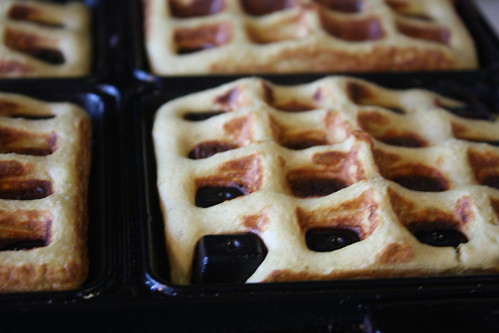 Flourless gluten free banana waffles.