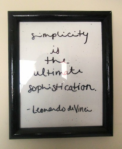 Simplicity Quote by SevenDaysBlog