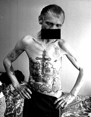Russian Prison Tattoos. Image source unknown.