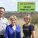 Christine, Jeremy & Penny with No Gas billboard by Jeremy Buckingham MLC