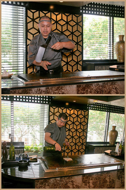 Mikuni has two styles of teppanyaki - entertaining and classic