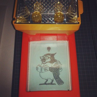 About to expose image for a new small #Gocco print. #screenprint
