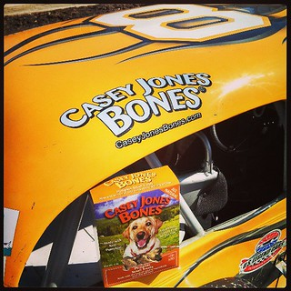 Opened up a box of #CaseyJonesBones #pumpkin for the #dogs at Wiscasset today    #8 #uslegends #dogstagram #dogtreats #racecar