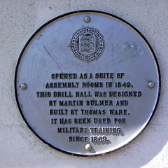 Photo of Martin Bulmer and Thomas Ware white plaque