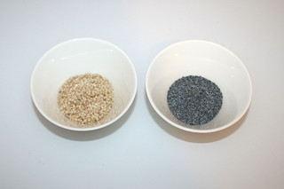 10 - Zutaten Sesam & Mohn / Ingredients sesame & poppyseed