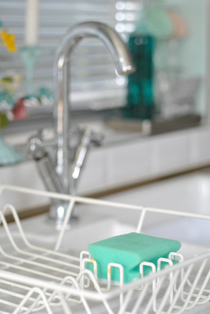 Kitchen sponge storage