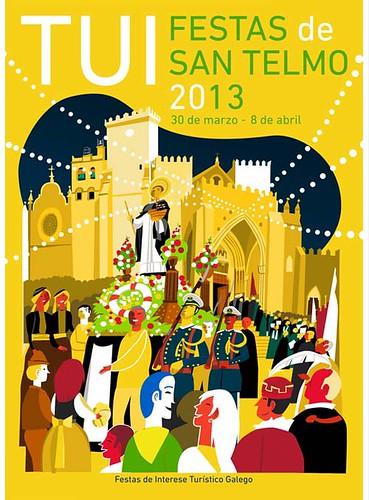 Tui 2013 - Festas de San Telmo - cartel