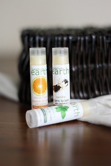 made from earth lip balms