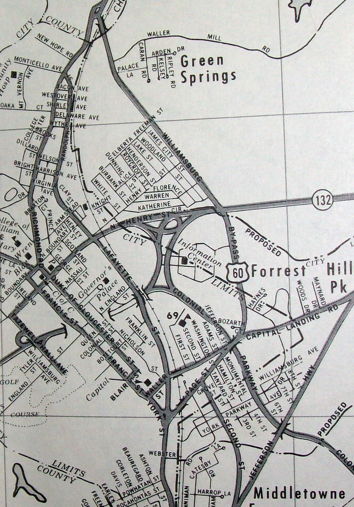 Ashton Virginia Map.Williamsburg Va 1961 Map By Dolph Map Co Davecito Flickr