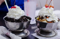 Ice cream sundaes from Dumsers