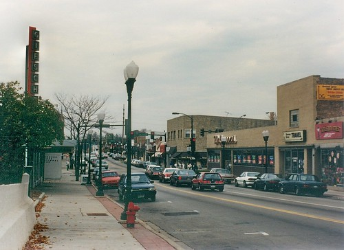 Downtown Downers Grove Illinois.  November 1989. by Eddie from Chicago