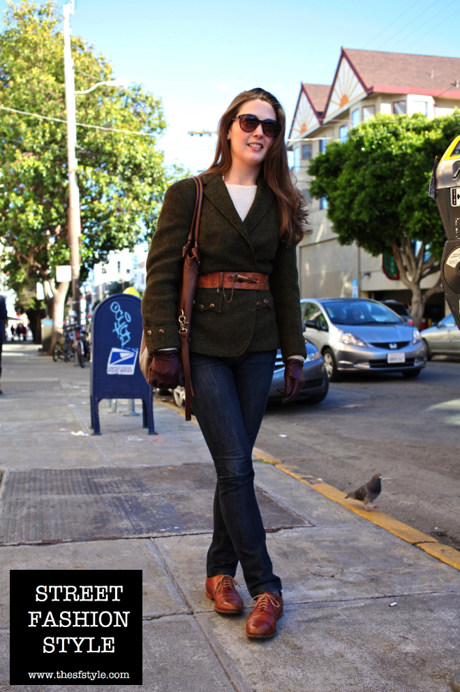 leather gloves, equestrian, vintage, tweed, san francisco, street fashion style, thesfstyle,