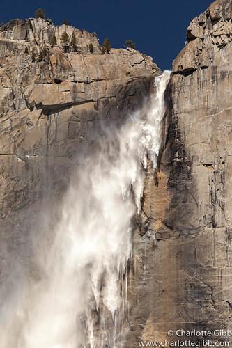Upper Yosemite Falls On A WIndy Day