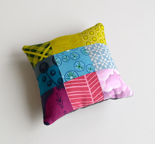 Modern She Made pincushion - back