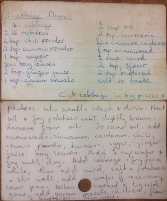 Cabbage Dom recipe
