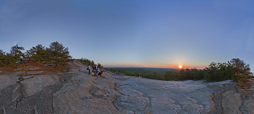 atlanta sunset stone georgia glow pano panoramic harris stonemountain harrisclayton