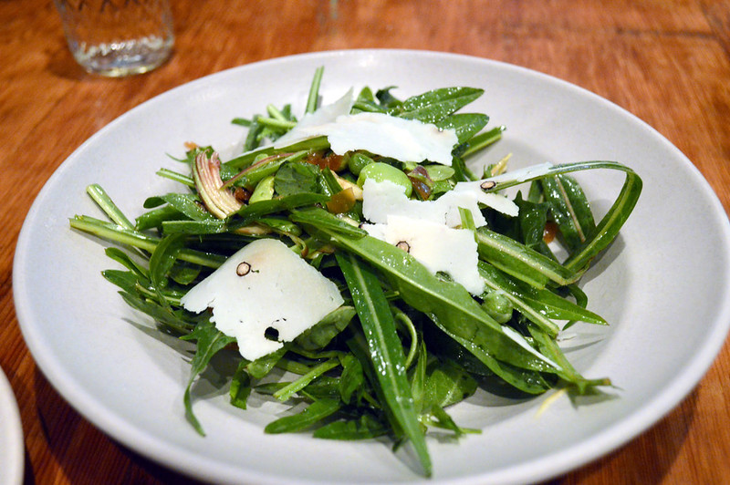 Dandelion Greens, soy beans, spring peas and parmesan