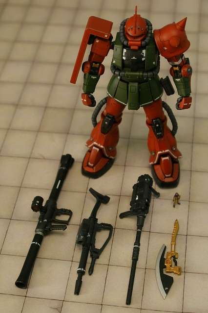 "Real Grade - MS-06FS Zaku II ""Garma Zabi Custom"" - On Parade"