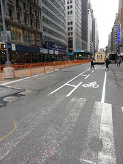 The fixing of a bad bike lane