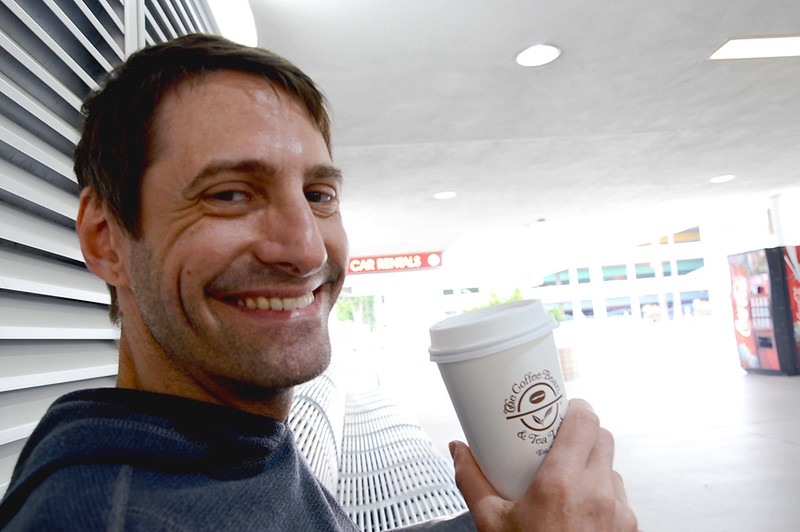 Mike enjoying the last Coffee Bean and Tea Leaf