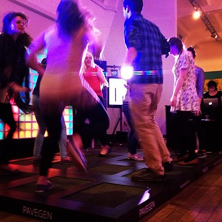 @sciencemuseum #smlates and #pavegen together dancing for the #climate - #peoplepoweredplanet