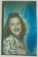 Tinted photobooth girl