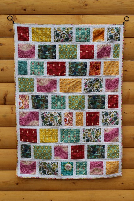 Folksy Flannels Colour Block Baby Quilt