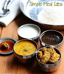 poricha kuzhambu, vazhakka curry, rasam
