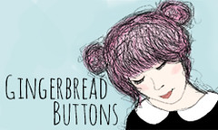 Gingerbread Buttons blog button