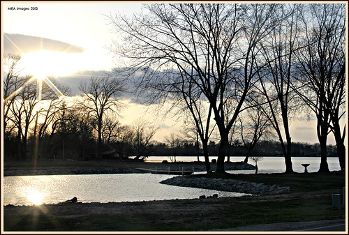 trees light sunset sun reflection nature water wisconsin clouds canon landscape spring lakes silhouettes sunsrays waterscene foxlake canoneos60d picmonkey picmonkey:app=editor merleearbeen meaimages