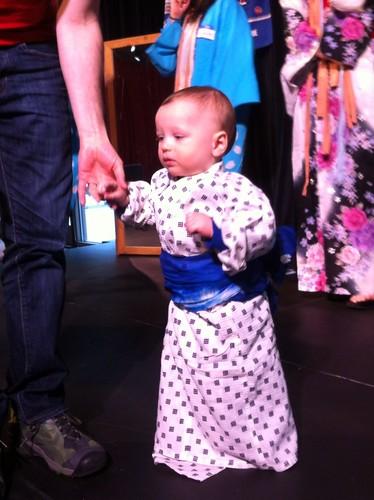 Franklin Tries on a Kimono