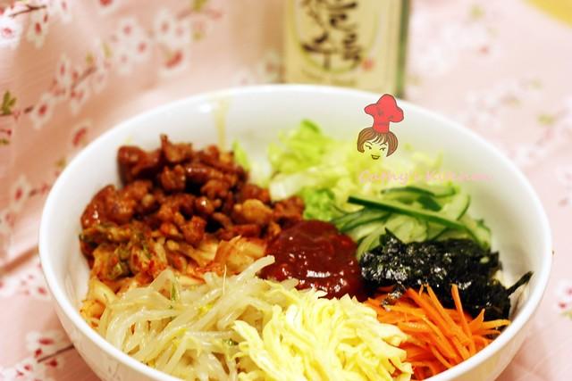 韓式泡菜豬肉拌飯  BiBimBap 4