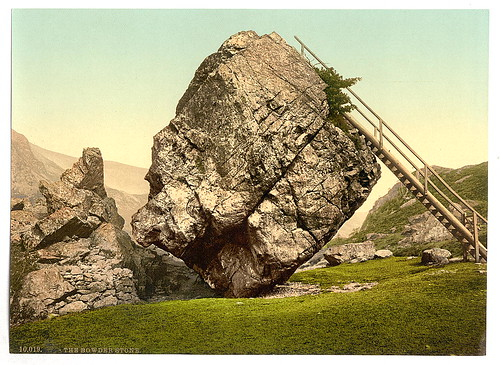 [Bowder Stone, Lake District, England]  (LOC)